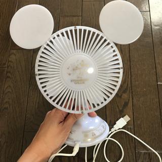 ミッキー型 卓上扇風機の画像