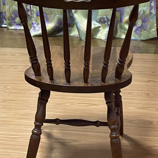 無料 木製の古い椅子5脚 使って下さい