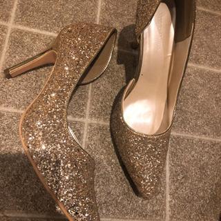 新品、ゴールド、ハイヒール、高さ10センチ、夏靴、ヒール、…