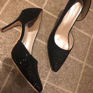 新品、ブラック、ハイヒール、高さ10センチ、黒夏靴、ヒール…