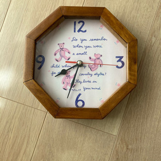 壁掛け時計 くま