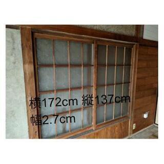 昭和レトロ 引戸 窓ガラス 木製サッシ 茨城県取手市まで引取限定