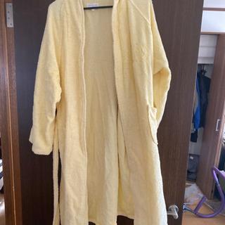 バスローブ タオル地 黄色