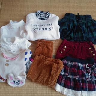 ⑸美品女の子110cm8着セット UNIQLO/西松屋/AEON