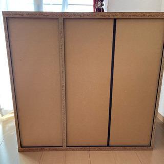 棚が自由自在に動かせる可動式の棚(3段) - 家具