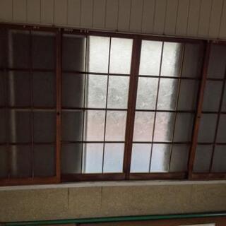 アンティーク 木戸 建具 4枚窓 茨城県取手市迄引き取り限定