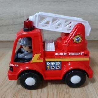動く!伸びる!消防車 はしご車 ミニカー おもちゃ