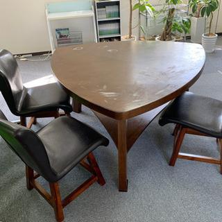 三角テーブルセット - 家具