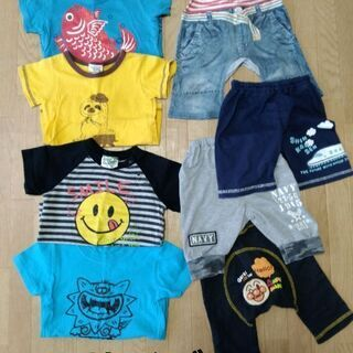 ¥500 まとめ 男の子 春夏 90 Tシャツ ティーシャ…
