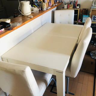 【再募集】ダイニングテーブル&イス4脚セットの画像