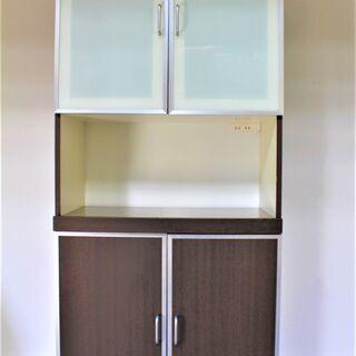 【記載エリア配送無料】レンジボード キッチンボード 食器棚