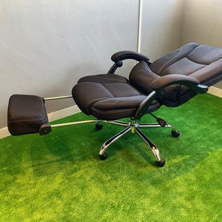 リクライニングチェアー オットマン付き - 家具