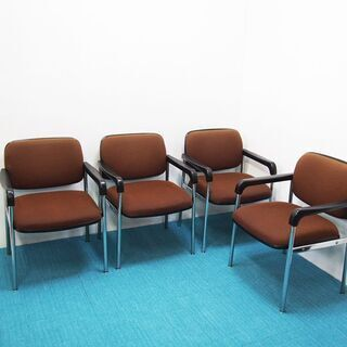 KOKUYO コクヨ ミーティングチェア 事務椅子 4脚セ…