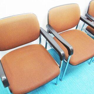 KOKUYO コクヨ ミーティングチェア 事務椅子 4脚セット 一人用 (AA45) - 久世郡