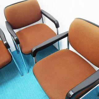 KOKUYO コクヨ ミーティングチェア 事務椅子 4脚セット 一人用 (AA45) - 家具