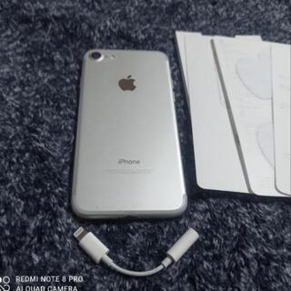 iPhone7 シムフリー 128ギガ シルバー - 家電