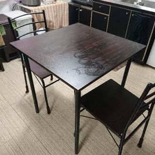 ダイニングテーブル チェアー付き 正方形