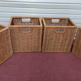 木製収納カゴ 4個セット
