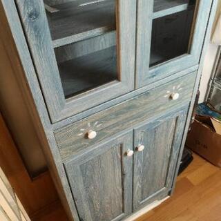 ブルーの本棚、食器棚 - 仙台市
