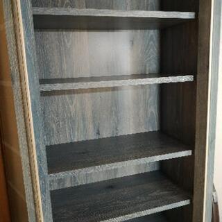 ブルーの本棚、食器棚 - 家具
