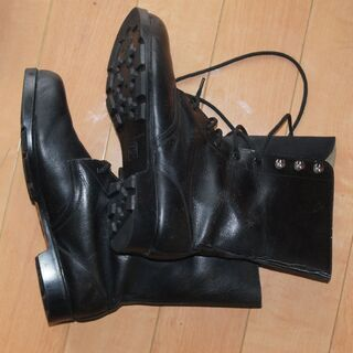 耐油性 本革(牛皮)安全靴 先芯 鋼 未使用品 26cm …
