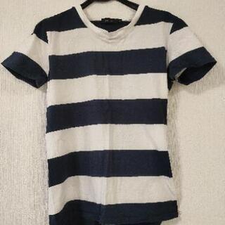 ホワイト×ネイビーボーダーTシャツ