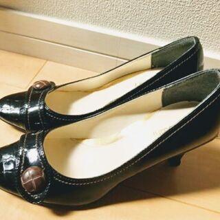 【値下げ!】レディース パンプス ブラック 23cm