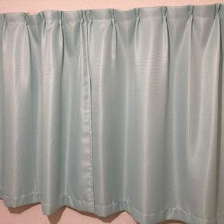 【美品】水色のカーテン【縦130cm×横170cm】