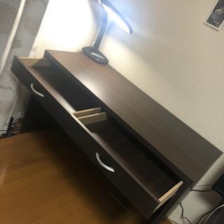 デスク 勉強机 パソコンテーブル 収納、ライト付き
