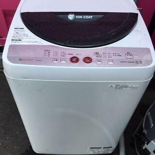 全自動 洗濯機 SHARP シャープ ES-GE55K 2…