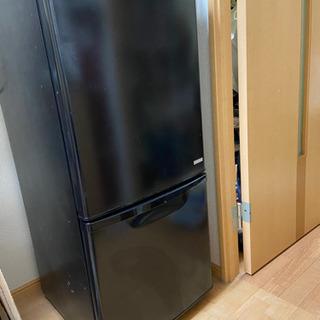 冷蔵庫 黒 2ドア