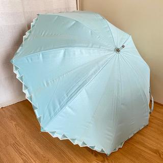 ランバン LANVIN 日傘 晴雨兼用 一級遮光 グリーン リボン柄