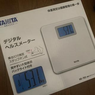 [新品]タニタ体重計未使用保証書付き