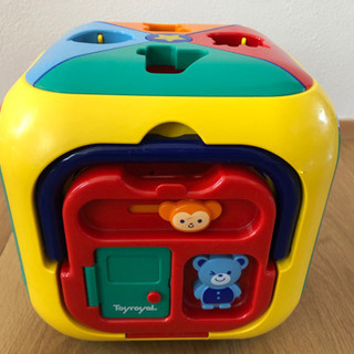 知育玩具 トイローヤル 型はめブロック 6面 Toyroy…