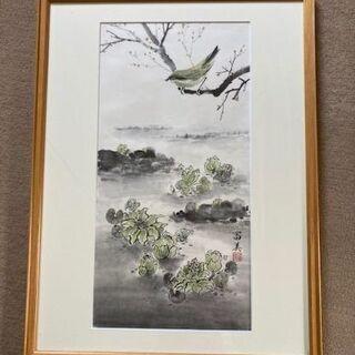 日本画調の絵画(水彩と墨)
