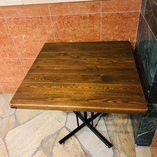木製テーブル◼️使用期間1ヶ月◼️72×72×H65の画像