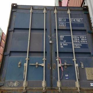 博多港にて中古20ftドライコンテナ