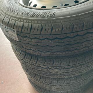 165R 13-6PR、ホイール付きタイヤ、4本セット、A…