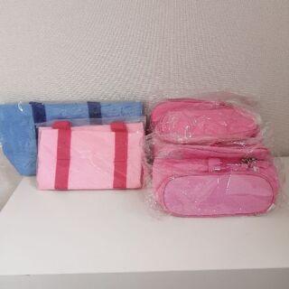 【新品・未使用】お弁当バッグとバニティ型化粧ポーチ 1つ5…