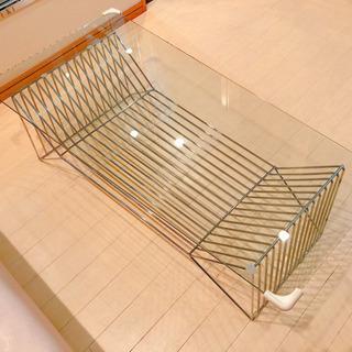 【ネット決済】台形ガラステーブル