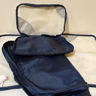 無料★IKEA イケア メッシュ 衣類收納バッグ ポーチ 2点 旅行 出張 小物入れの画像