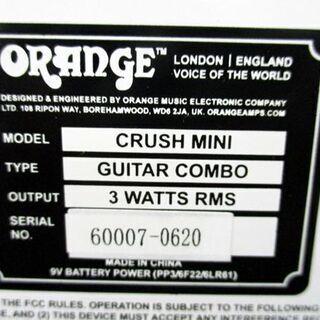 美品 オレンジ クラッシュ ミニ ORANGE CRUSH MINI GUITAR AMPLIFIER COMBO ギター 札幌市 中央区 - 札幌市