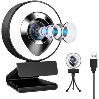 LEDライト付きウェブカメラ フルHD 1080P 30FPS 高画質
