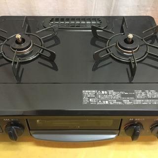 【美品】リンナイガスコンロ2019年製LPガス用左強火力