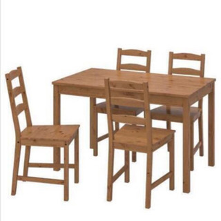 IKEAダイニングテーブルと椅子