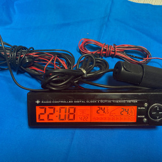 電波時計&車内外温度計 カシムラ AK-19