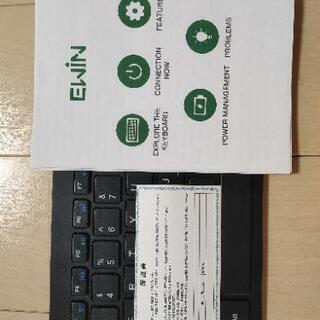 【2021年型】Ewin Bluetoothワイヤレスキーボード Bluetooth Ver5.1 タッチパッド+テンキー付き Windows/Mac/iOS/Android対応(英語配列キーボード) - パソコン