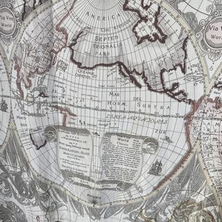 シャワーカーテン 世界地図 - 台東区