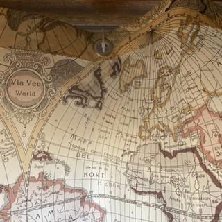 シャワーカーテン 世界地図 - 家具