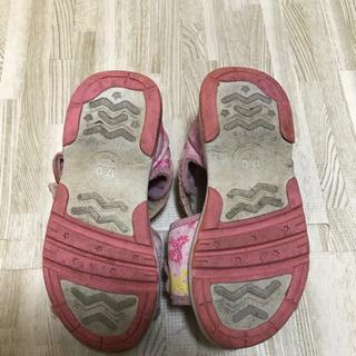 女の子 女児 サンダル 17センチ 靴 - 子供用品